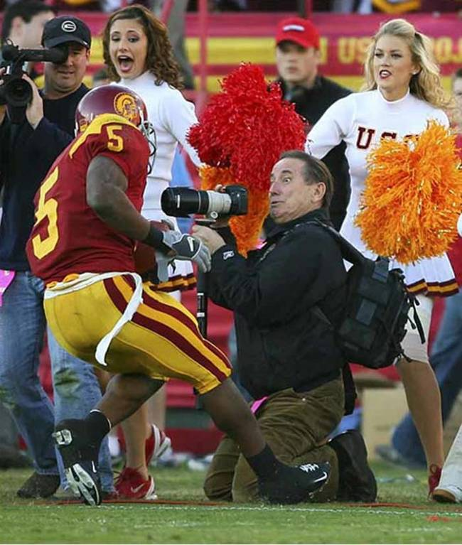 3.) That cameraman actually looks more terrified than the cheerleaders.