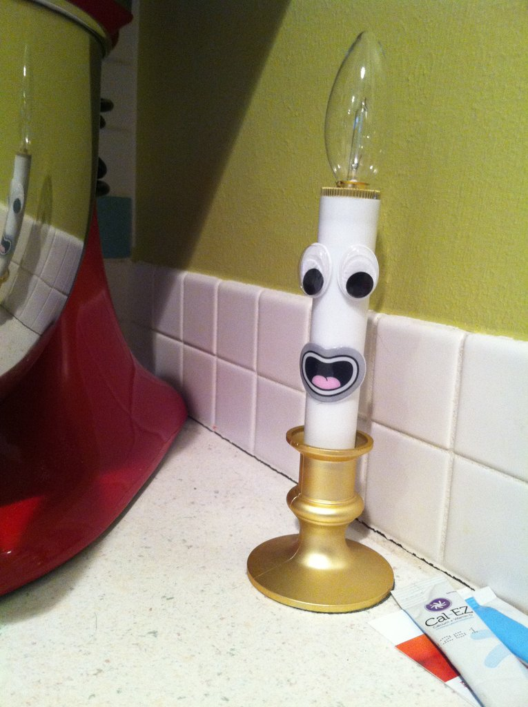 This one looks just like Lumiere, the candlestick from Disney
