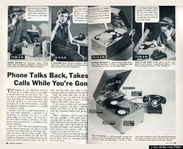 1.) They thought that THIS is what voicemail would look like.