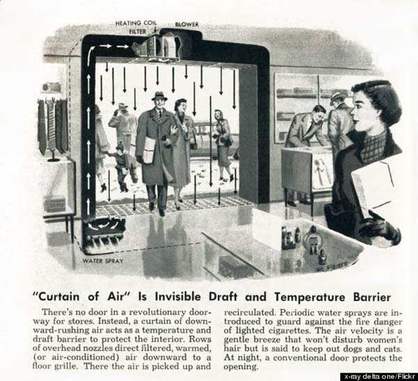 3.) Instead of automatic doors, there was... this?